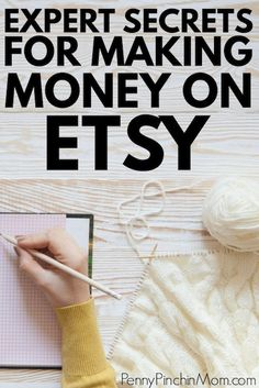make money on etsy Learn how to start an Etsy Business from an Expert Etsy Seller. She has some great tips and strategies to help you get started selling your crafts on Etsy so you can make money from home