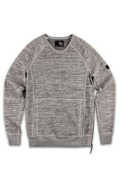 Isaora Knit Crewneck Gray Sweatshirt