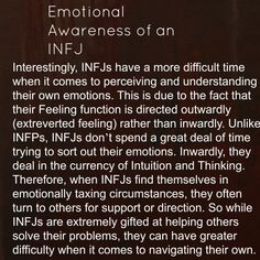 INFJ: Introvert iNtuituve Feeling Judging -- Best explanation of the emotional processing I experience that I've ever read. Infj Mbti, Intj And Infj, Enfj, Infj Traits, Rarest Personality Type, Mbti Personality, Myers Briggs Personality Types, Personality Psychology, Mantra