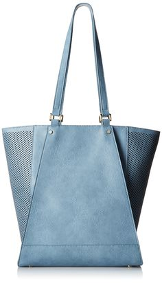 Amazon.com: POVERTY FLATS by rian Perf Detail Tote, blue