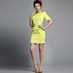 Elegant Wear To Work Slim Knee Length Pocket
