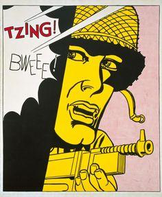 Les deux plus grandes figures du pop art sont représentées dans l'exposition. Roy Lichtenstein (1923-1997), fasciné par la force de la publicité, représente en grand et en noir et blanc des objets de la vie courante comme un pneu. Inspiré aussi par la bande dessinée, il utilise les points benday de l'imprimerie pour composer ses figures. Une pièce entière est consacrée à Andy Warhol (1928-1987), avec une petite dizaine de ses sérigraphies, images multiples de Jackie Kennedy, Marlon Brando…