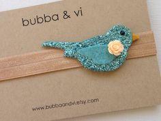 Glitter Hair Clip - Bird Hair Clip - Glitter Bird Hair Clip - Bird Headband, Bubba and Vi on Etsy, $15.57 AUD