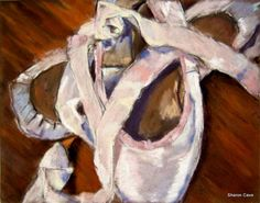 Pointe shoes in pastel – Sharon Cave Pointe Shoes, Ballet Shoes, Cave, Pastel, Artwork, Ballet Flats, Cake, Work Of Art, Auguste Rodin Artwork