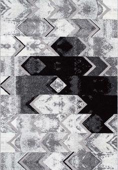 Urban NightsMN02 Abstract Uneven Chevron Rug