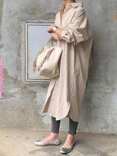 Trendy Ideas For Japanese Fashion Jeans Outfit Cotton Shirt Dress, Long Shirt Dress, Modest Fashion, Hijab Fashion, Fashion Dresses, Japan Fashion, Look Fashion, Fashion Tips, 2000s Fashion