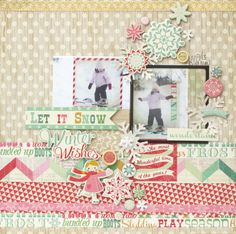 Cute layout created using the Bundled Up Collection from Crate Paper
