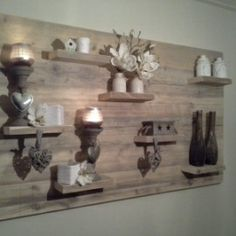 Wanddecoratiebord van oud steigerhout