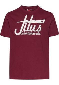 The #Titus Script Flash t- #shirt comes with a stylish Titus #Skateboards print on the front which includes a flash and the UP-logo. The shirt is made from a high-quality cotton fabric.