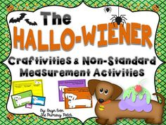 This unit includes fun and unique non-standard measurement activities (using 3 different sized Oscars) as well as several adorable craftivities. Be the talk of the school by using the show-stopping Design Oscar's Halloween Costume Craftivity for your October bulletin board!  Your students will fall in love with Oscar, the half-a-dog tall and one-and-a-half dogs long, wiener dog from Dav Pilkey's classic picture book, The Hallo-Wiener.