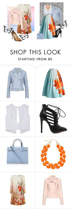 one of many street styles by style99proccess on Polyvore featuring Balenciaga, Gestuz, Chicwish, Manolo Blahnik, Kurt Geiger, Mixit, women's clothing, women's fashion, women and female