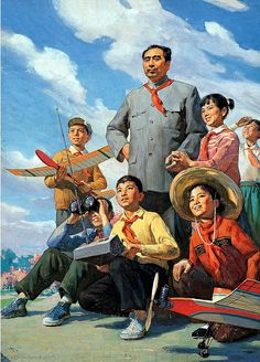 Cai Liang – Chinese) Premier Zhou And Young Pioneers Chinese Propaganda Posters, Chinese Posters, Propaganda Art, Political Posters, Communist Propaganda, Chinese Painting, Chinese Art, Mao Zedong, Beijing