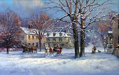 SLEIGH BELLS by Paul Landry LIMITED EDITION CANVAS