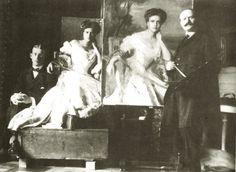 carolathhabsburg:  Prince Andrew of Greece waiting for spouse, Princess Alice, while she poses for Philip Alexius de Laszlo.1907