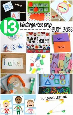 Get the skills you need to get ready for school from LalyMom. These activities include free printables! These busy bags help develop all of the skills your child will need in kindergarten. Give your preschoolers a head start with these fun activities! Toddler Learning Activities, Toddler Preschool, Fun Learning, Preschool Activities, Learning Cards, Learning Colors, Abc Cards, Kindergarten Readiness, Preschool Kindergarten