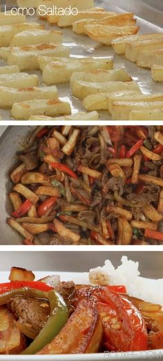 Lomo Saltado (Includes potatoes, tomatoes, peppers and beef.) | The Rouxbe Online Cooking School