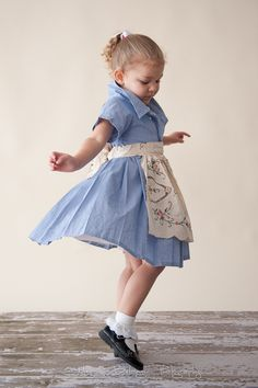 girl's dress from men's shirts