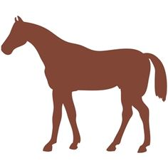 Silhouette Design Store: horse standing