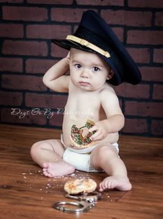 Police officers baby. This would be great when my daughter has her first baby