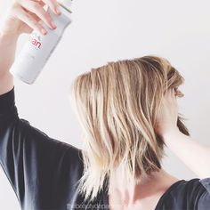 Evian water spray might be the best trick in the book for that undone look. 💕