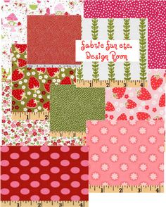 Michael Miller strawberry tea party fabric