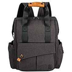 ALLCAMP Diaper Bag ,Nappy Backpack with Large Capacity, Support Baby Stroller with Changing Pad, Large, (Dark Grey) Best Backpack Diaper Bag, Dad Diaper Bag, Black Diaper Bag, Large Diaper Bags, Baby Changing Bags, Changing Pad, Baby Rucksack, Baby Orange, Cool Backpacks