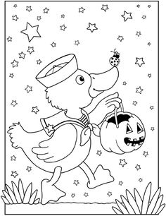 Welcome to Dover Publications Happy Halloween Coloring Book