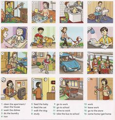 Everyday activities English lesson