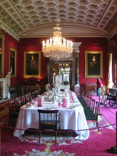 Grand dining room from the Chatsworth House - Used as Pemberly in the 2005 film version of Pride and Prejudice.