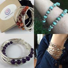 New gemstone bracelets are available at Grace Ann Jewelry, on SALE 25% OFF.  See shop announcement for extra discount.  :)