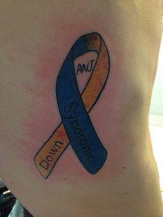 Down Syndrome ribbon tattoo