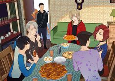 Our Russian Family with Yuuri and Beka ❤❤