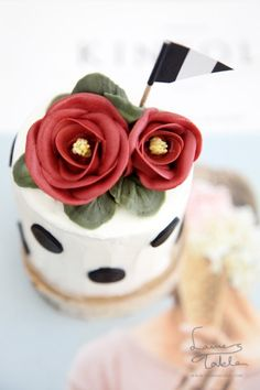 [플라워케이크]Spring Flower, Camellia Cake_카멜리아케이크 로렌스테이블 : 네이버 블로그