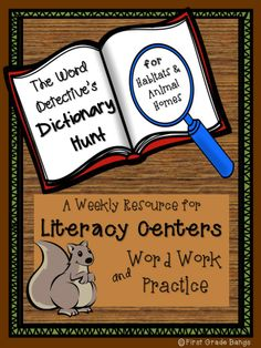 FREEBIE Dictionary Hunt for practicing dictionary skills and ABC order practice.    Use these hunts throughout the year whenever you teach about habitats.:)
