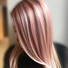 We're allll about the rose gold hair! Color by Redken Artist Sean Godard using City Beats! | vibrant hair, rose gold hair, haircolor trends