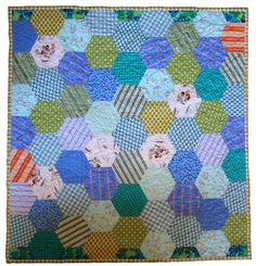 Hexagon Quilt - front by craftapple, via Flickr