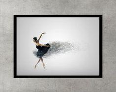 """Dark Ash Ballerina Dancing Dress Wall Art Print - Digital Download. Wall Art Printable. 24""""36"""" Poster Grey Black Storm Dark Ash, Ballerina Dancing, Dance Dresses, Printable Wall Art, Etsy Store, Wall Art Prints, Digital, Grey, Poster"""