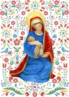 Jesus And Mary Pictures, Mary And Jesus, Mother Art, Mother And Child, Catholic Art, Religious Art, Magical Christmas, Christmas Art, Christian Images