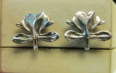 Vintage Estate Ming's of Honolulu Sterling Silver Ginger Earrings  by Alohamemorabilia