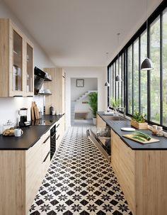 Les gens qui ont toujours une cuisine impeccable font ça – Vintage Home Decor Home Decor Kitchen, Interior Design Kitchen, New Kitchen, Home Kitchens, Kitchen Dining, Decorating Kitchen, Kitchen Ideas, Dirty Kitchen Design, Eclectic Kitchen