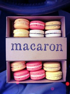 Get one of every flavor macaron at Bakery Lorraine!