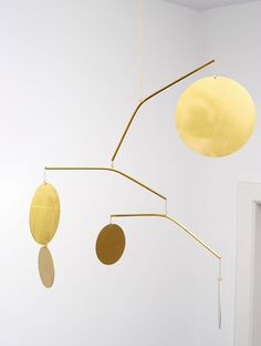 LaLouL Mirror Polished Brass Mobile at DSHOP