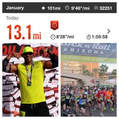 Another 13.3 nocked out at the Rock 'n' Roll Arizona 1/2 Marathon @Rock 'n' Roll Marathon today with Team @Mazda USA. Broke my PR by 2 minutes in the process. All while operating on plant-based fuel.   #FitFathers #RunFree #GameChanger #NikePlus #VeganPro