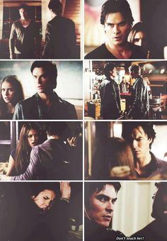 He is so protective! :') Delena - The Vampire Diaries. ♥