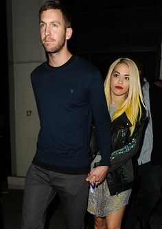 Hot new couple ... Calvin Harris and Rita Ora Ben Eade / Goff Photos