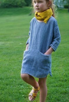 Handmade Blue Linen Dress | Etsy