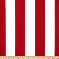"""Medium weight, stripes are 2"""" wide.  Outdoor fabric is screen printed on spun polyester and perfect for outdoor settings and indoors in sunny rooms. It is fade resistant up to 5..."""
