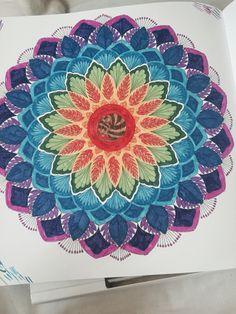 Giant Flower From Millie Marottas Animal Kingdom Colouring Book Mandala ArtColoring BooksAdult