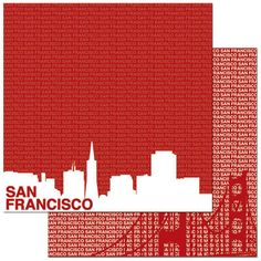San Francisco - double sided 12x12 scrapbooking paper