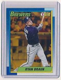 2015 ARCHIVES '90 TOPPS #1 DRAFT PICKS GOLD RYAN BRAUN 39/50 *MILWAUKEE BREWERS*
